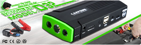 D32 multi-function car jump starter