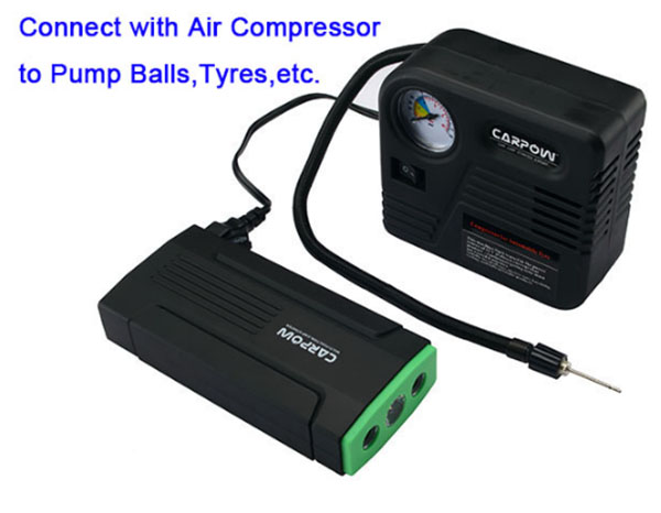 multi-function car jump starter connect with air compressor
