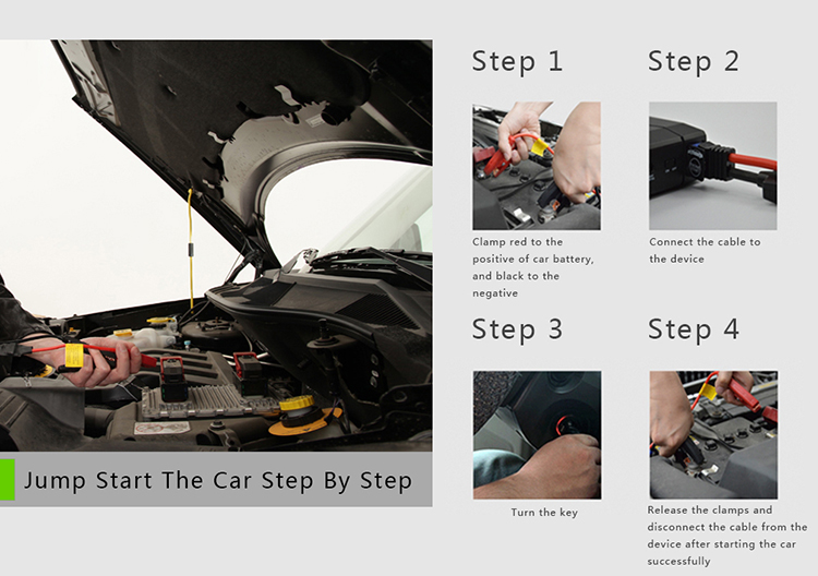 tell you  how to start car by multi function jump starter