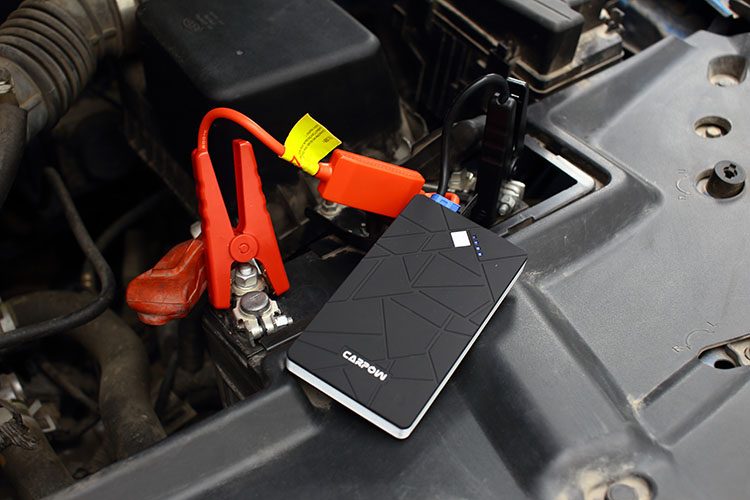 connect with car battery to start car engine