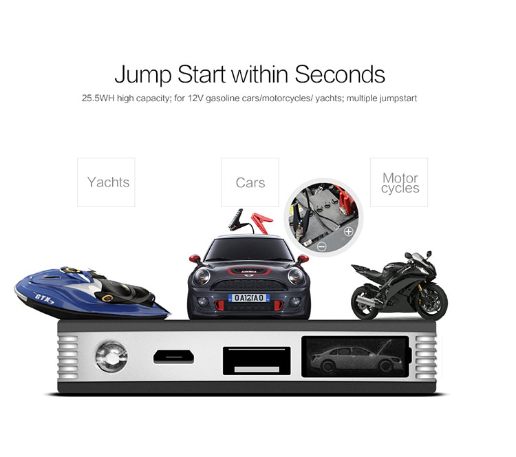 K30 jump starter battery can charge mobile devices