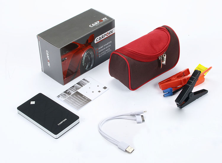package and accessories for K30 jump starter battery