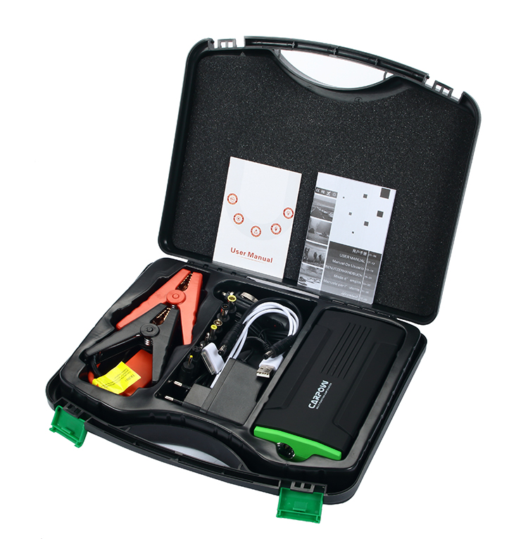 tool kit package to pack battery jump starter