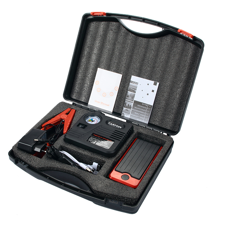 with air compressor K4 portable battery jump starter